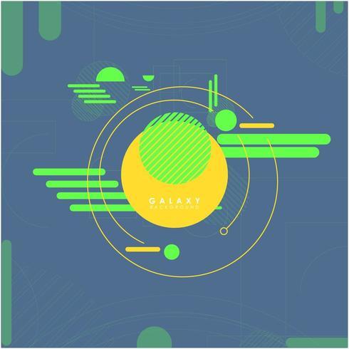 Neon abstrakt teknik och rymdutforskare bakgrund vektor