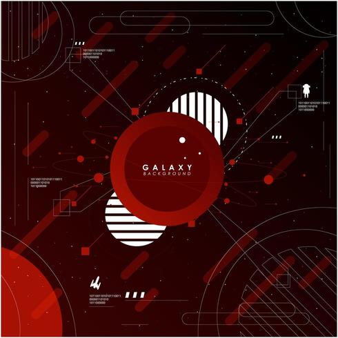 Abstrakt rymdutforskare bakgrund och ikoner vektor