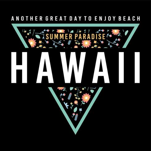 hawaii sommarparadis triangelemblem vektor
