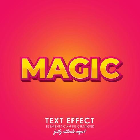 magisk premium textstil vektor