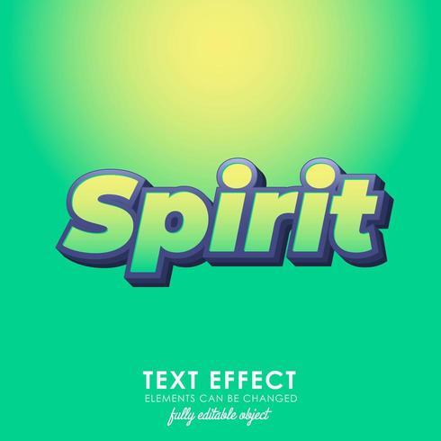 estilo de texto premium verde espírito vetor