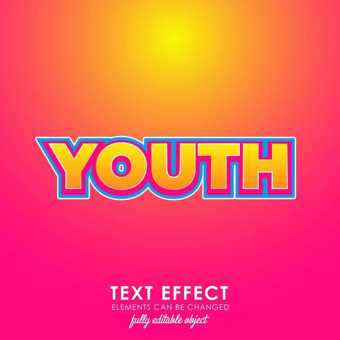 efeito de texto premium para jovens vetor