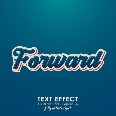 forward letter premium text effect with 3d desing and nice blue theme