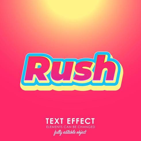 rusa bokstav premium text effekt med djärv, 3d design och fint rött tema vektor