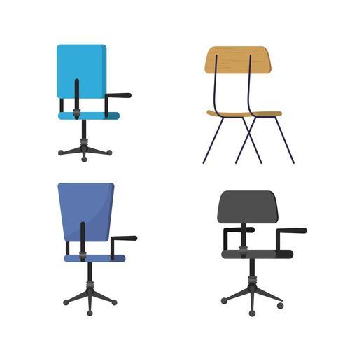 Diseño de silla aislada vector