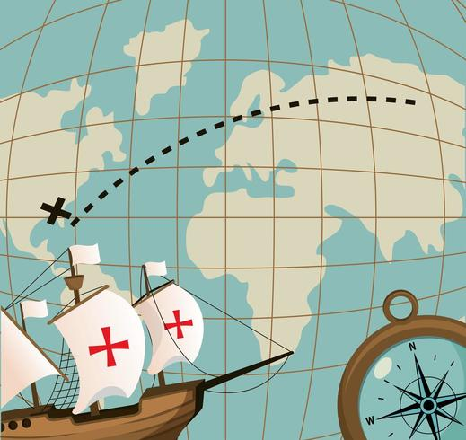 nave e mappa vettore