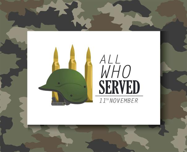 military helmet object and bullets army vector