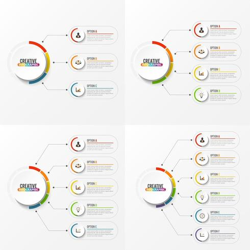 Abstract elements of infographic template  vector