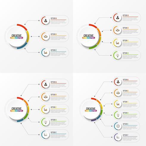 Abstracte elementen van infographic sjabloon vector