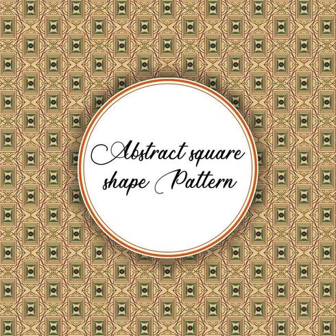 Vintage Square Shape Pattern vector