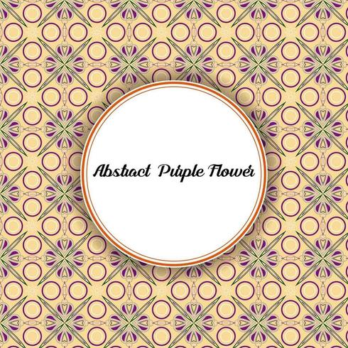 Abstract Purple Flower Pattern vector