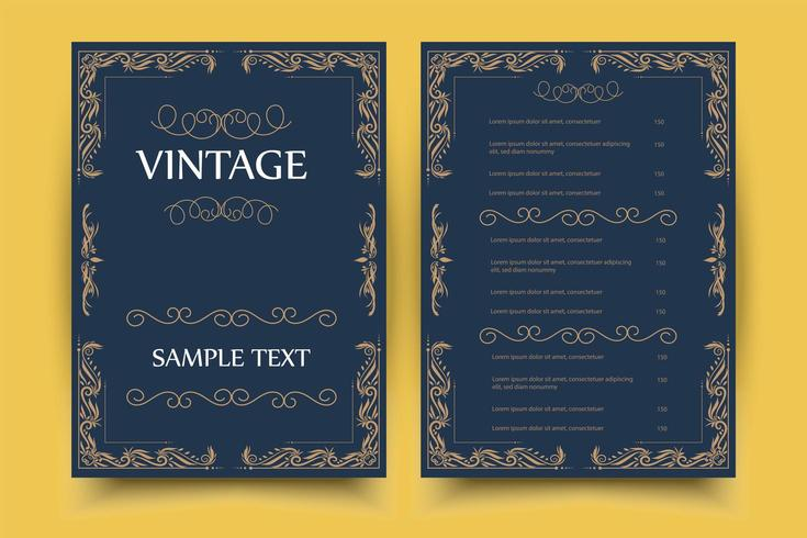 Vintage Ornament gratulationskort vektor