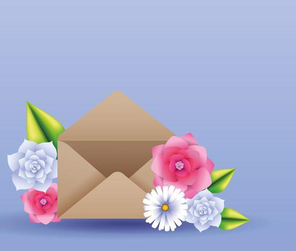 beautiful flowers card vector