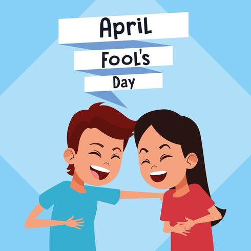 April fools day cartoon vector