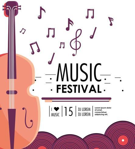 violin instrument till musikfestivalevenemang vektor