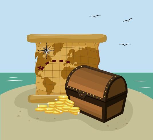 Cartoni animati Columbus day vettore