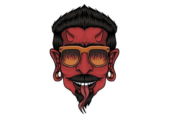 Conception de tête de diable vecteur