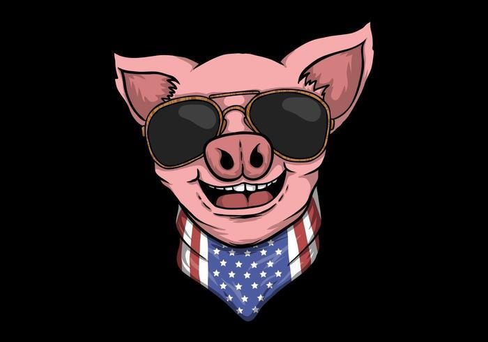 Le Pig head design vektor