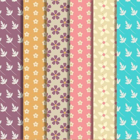 Set of floral pattern collection vector