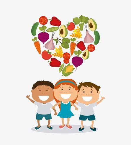 Bambini sotto il cuore fatti di verdure