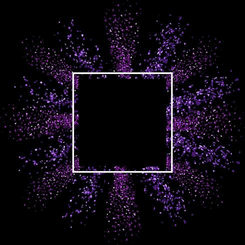 Glitter background with blank frame vector