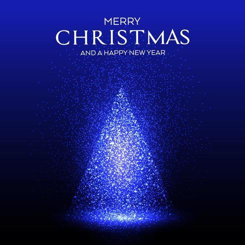 Scintille incandescenti design albero di Natale