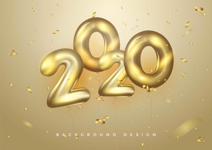 Fondo 2020 para sus invitaciones temáticas de volantes de temporada y tarjetas de felicitación vector