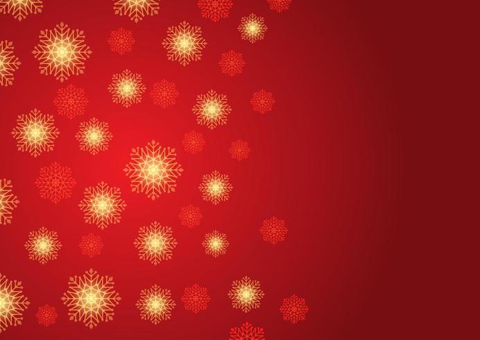 Jul snöflinga bakgrund vektor