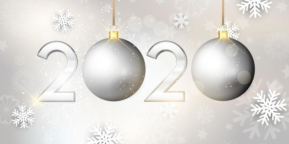 Happy New Year bauble banner vector