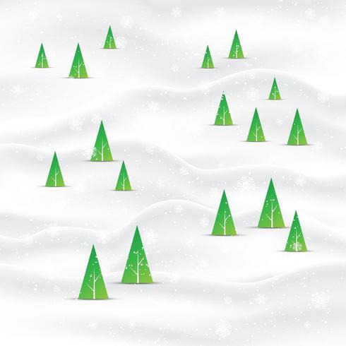 Priorità bassa minima del paesaggio dell'albero di Natale