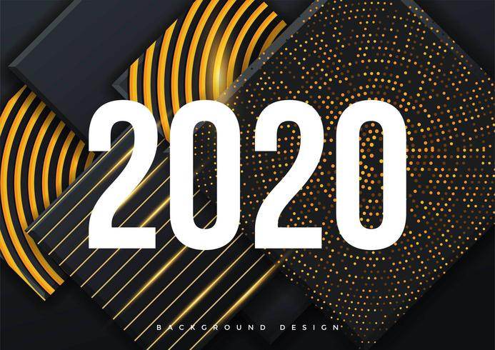 2020 Greeting Card background template vector