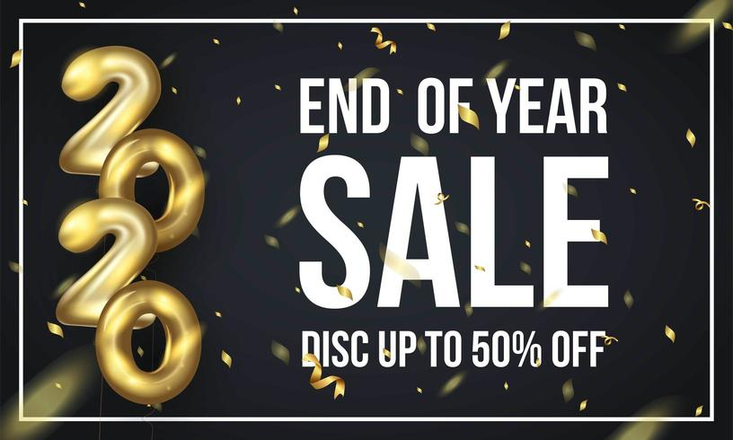 End of year sale off background template vector