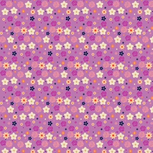 purple and yellow floral background design vector
