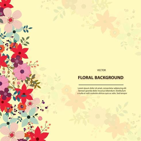 floral background template design vector