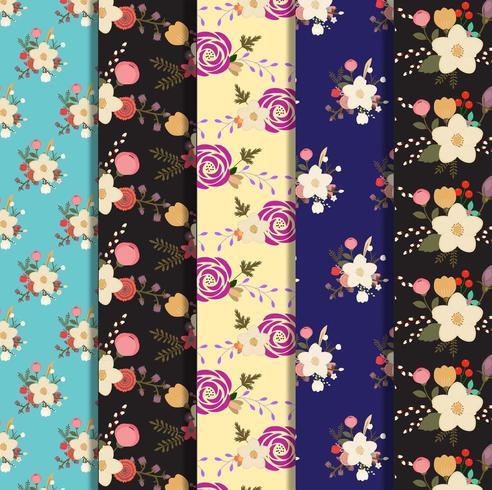 Set di raccolta di sfondo floreale