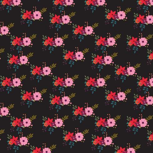 Dark floral background design vector