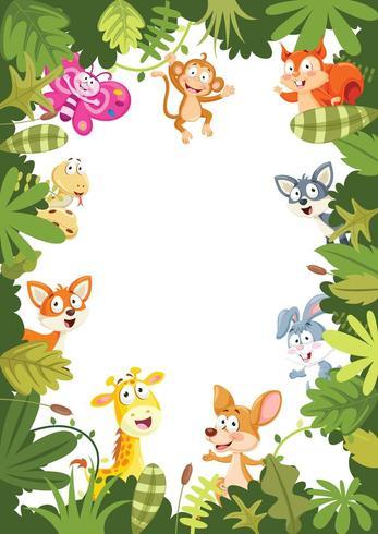 Diseño de banner de animales vector