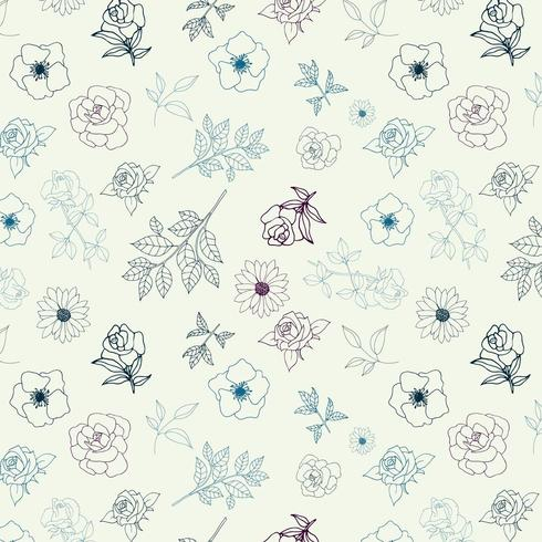 disegno di sfondo contorno floreale