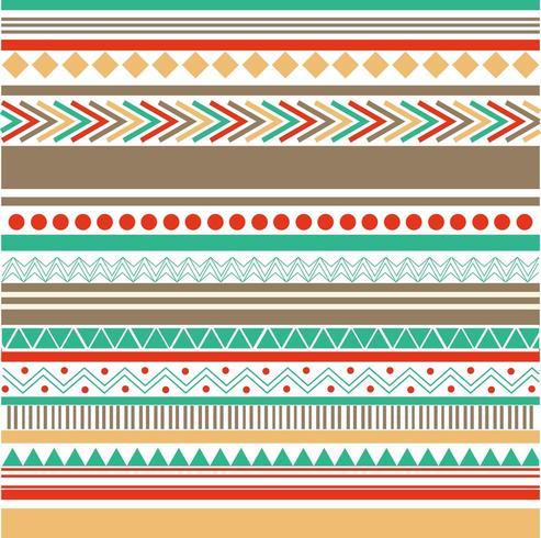 färgade tribal tapeter vektor