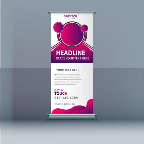 Banner Roll Up Rosa
