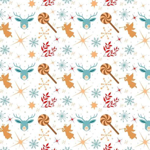 design di carta da parati di Natale con angeli e lecca-lecca