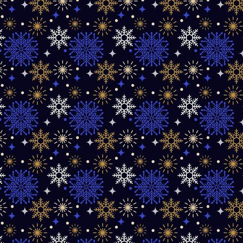 colorful snow flakes pattern design vector