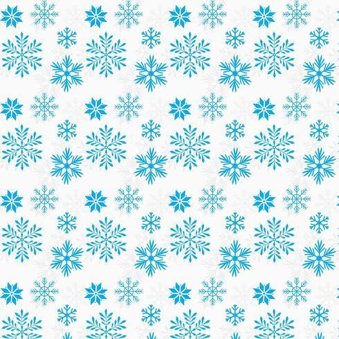 blå snöflingor bakgrundsdesign vektor