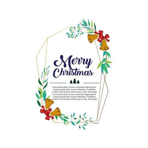 merry christmas geometric frame vector