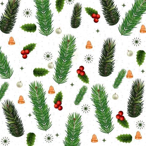 disegno del modello di Natale con fogliame
