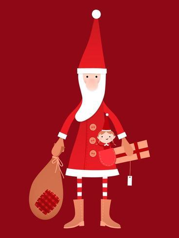 Bambola di Babbo Natale