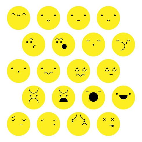 Faces and human emotions set vector