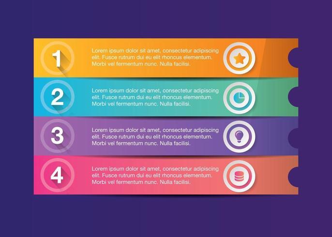 Modello 4step di business moderno infografica