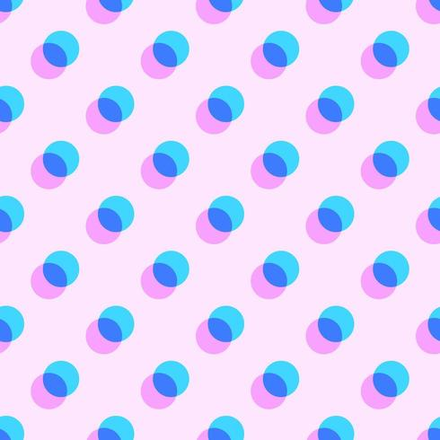 Geometric Pastel Overlapping Circles Pattern vector