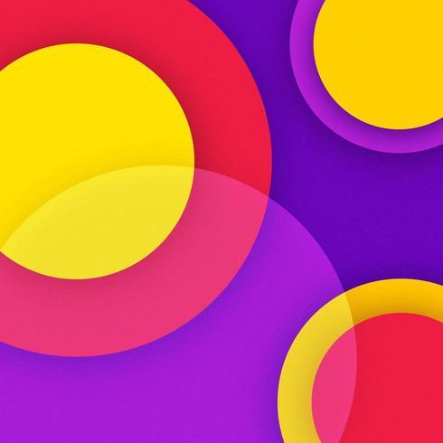 Sfondo di cerchi sovrapposti carta funky